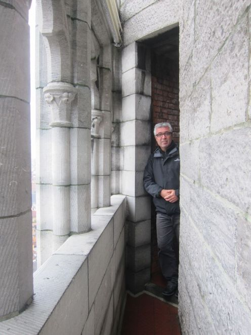 Chris in the bell tower