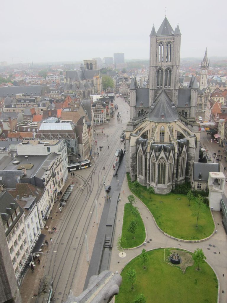 View of Ghent from its bell tower