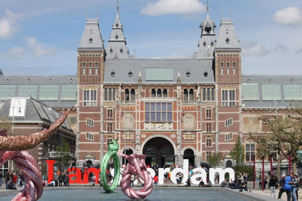 Rijksmuseum (view of the building from Vondelpark)