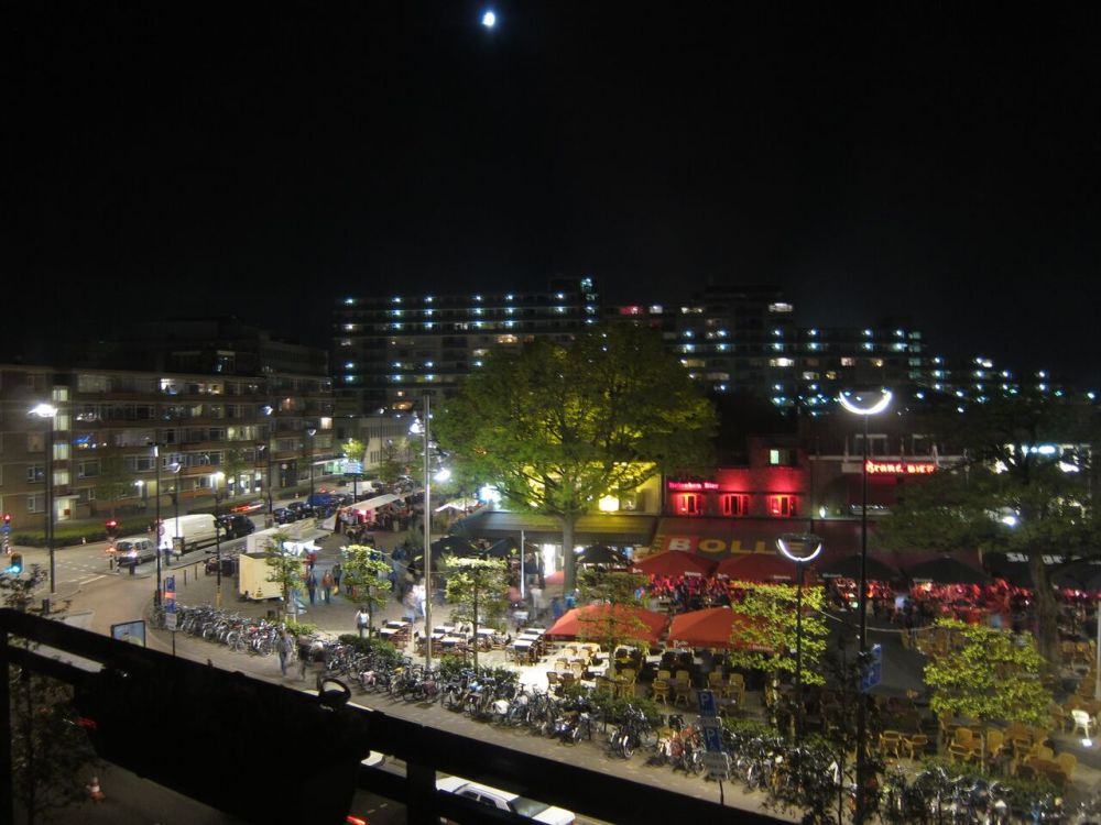 View of Tilburg by night