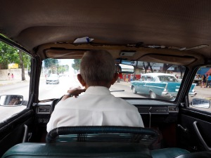 An old Lada taxi in Havana