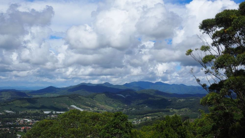 View of hinterland to the west of Coffs Harbour