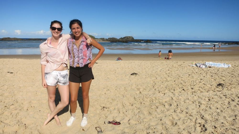 Ruby and Lily on Sawtell Beach