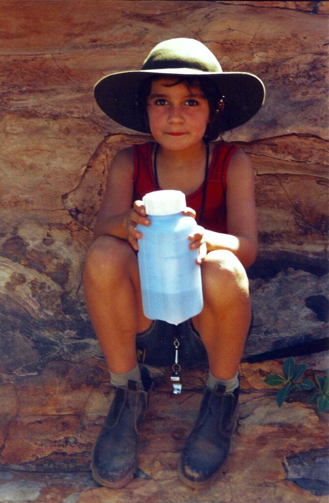 Clare hiking in the Bungles