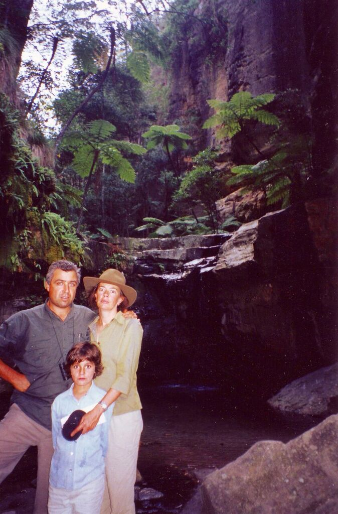 Chris, Clare and Susan at the Moss Garden, Carnarvon Gorge, Qld.