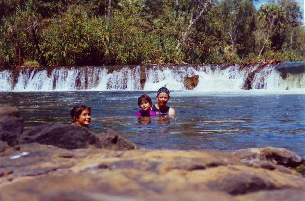S-R-C in falls at Mataranka_blog
