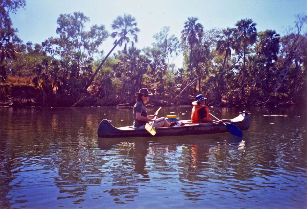 S-R on canoe Roper River_blog