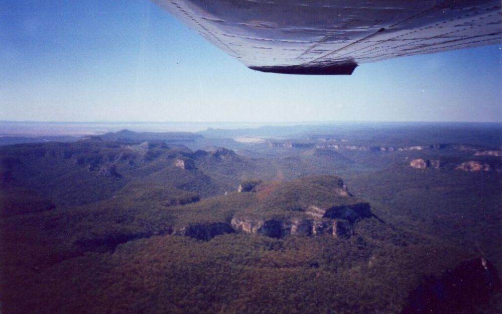 View of Carnarvon gorge from the air