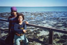 Ruby, Clare and stromatolites at Hamelin Pool