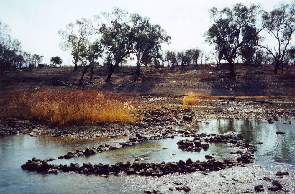 Traditional Aborignal fish traps, Brewarinna, N.S.W.