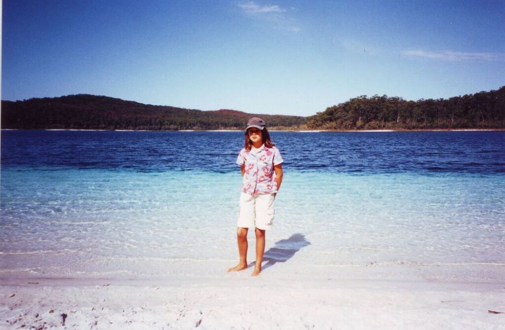Ruby at Lake McKenzie, Fraser Island, Queensland