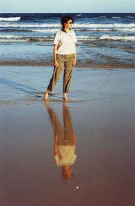 Susie on 75 Mile beach, Fraser Island, Queensland