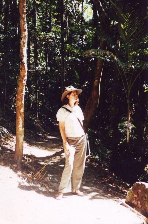 Susie in the rainforest on Fraser Island, Queensland