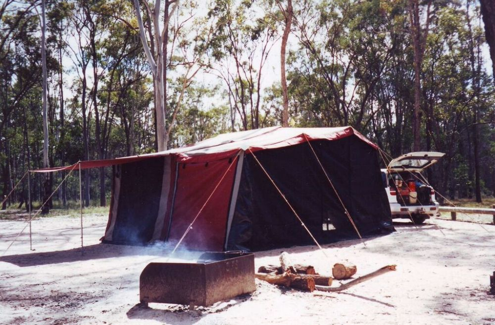 Campsite at Wongi State Forest, Queensland